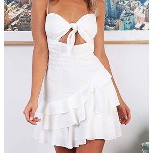 Women's White Mini Sundress